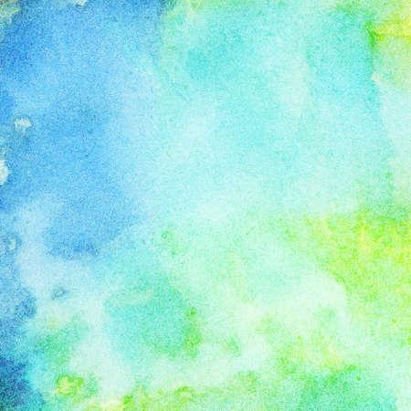 conservacion del agua: Resumen acuarela pintada de fondo Foto de archivo