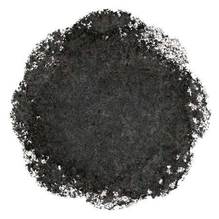 daub: Abstract black circle