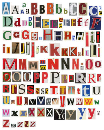 Colorful, newspaper, magazine alphabet photo
