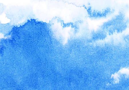 color image creativity: Cielo de acuarela abstracta Foto de archivo
