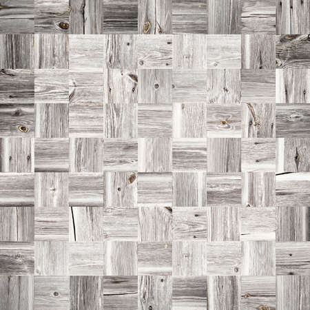 Wooden mosaic background made of old planks Stock Photo - 17562274
