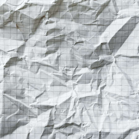 squared: Crumpled blank math paper
