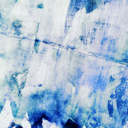 abstract painting: Abstract watercolor painting with collage paper texture Stock Photo