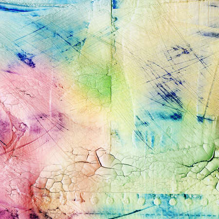 Colorful scratched background photo
