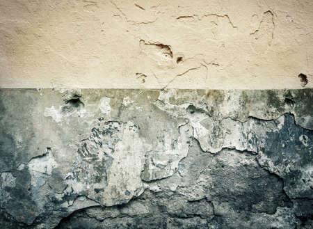 cracked concrete: Grunge plaster wall background Stock Photo