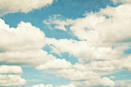 Vintage clouds and sky background  photo