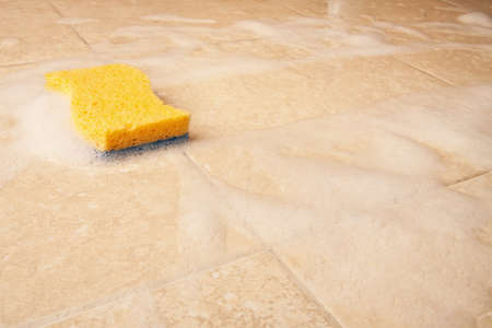 dirty house: dirty house cleaning with sponge