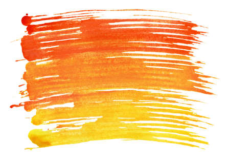 daub: Colorful watercolor brush strokes is isolated