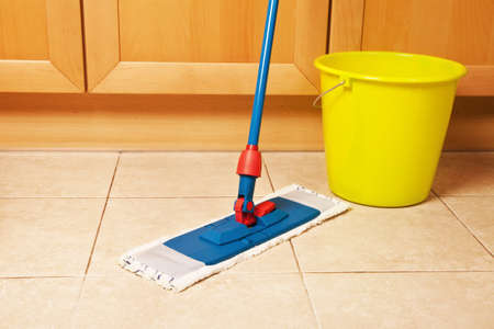 dirty house: dirty house cleaning with the mop