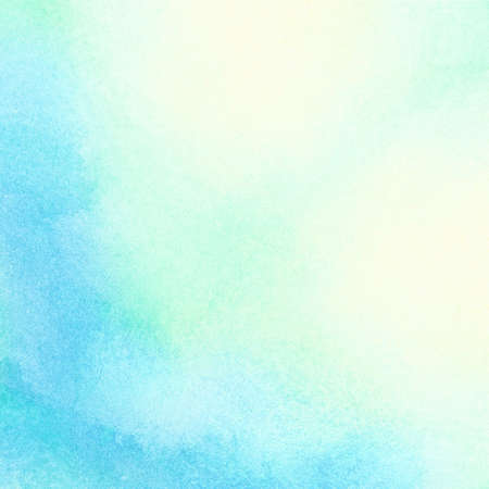 Abstract watercolor sun and sunlight shining on blue water, spring, summer background.