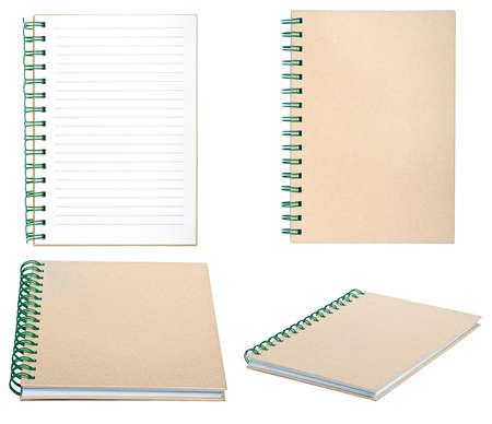 set of new empty notebook photo