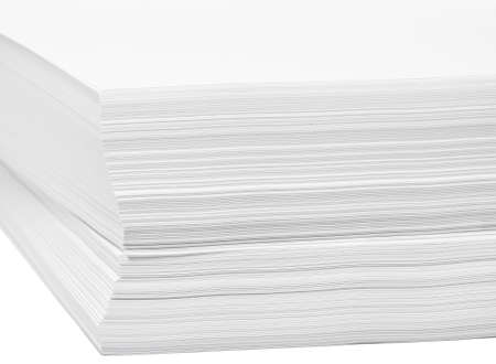 stack of white paper for print or text photo