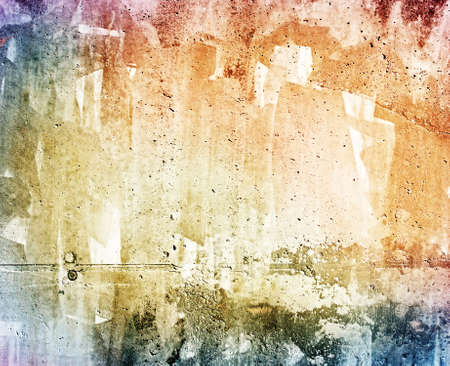 Grunge colorful concrete wall texture Stock Photo