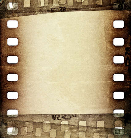 grunge scratched film strip background photo