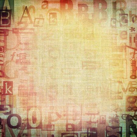 bunte Grunge Collage Buchstaben Hintergrund