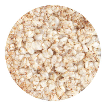 galettes: round buckwheat cracker is isolated on a white background