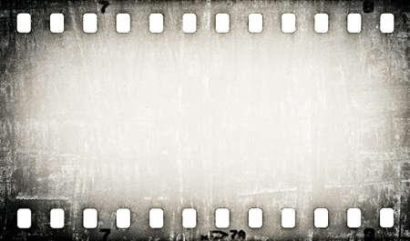 グランジ傷フィルム ストリップの背景
