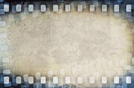 gray strip: grunge dirty scratched film strip background