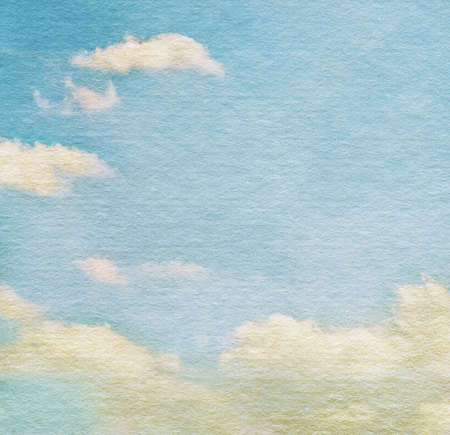 Sky and clouds on watercolor background photo