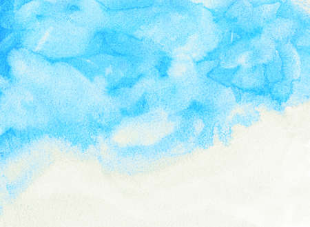 light blue cloud and sky watercolor background Stock Photo