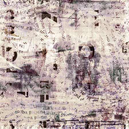 newspaper, magazine collage grunge background