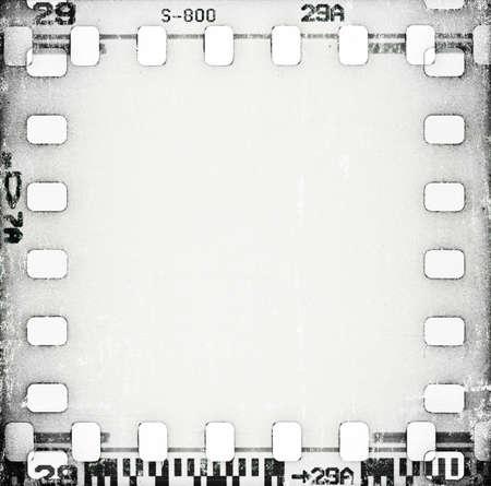 gray strip: grunge scratched film strip background