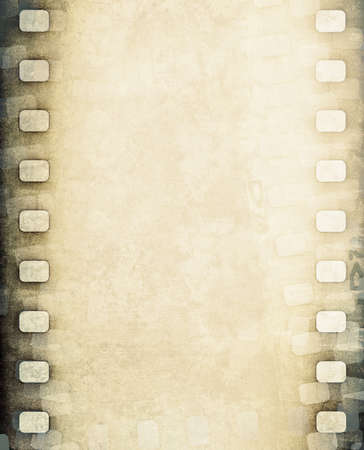 gray strip: grunge brown film strip background