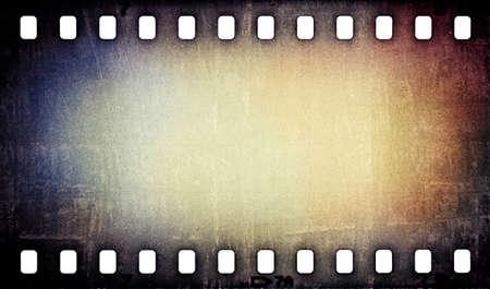 grunge rayado película tira fondo