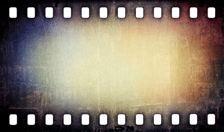 film strip: grunge scratched film strip background