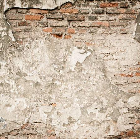 pared rota: Grunge ladrillo de la pared de fondo