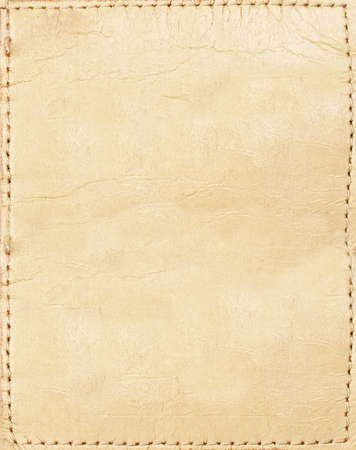 Light brown leather jeans label photo