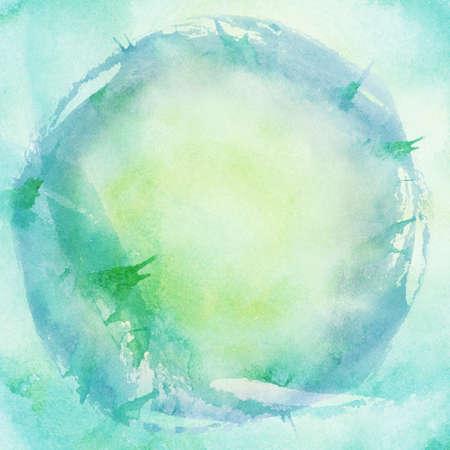 dibujos lineales: Resumen de fondo pintado acuarela azul Foto de archivo
