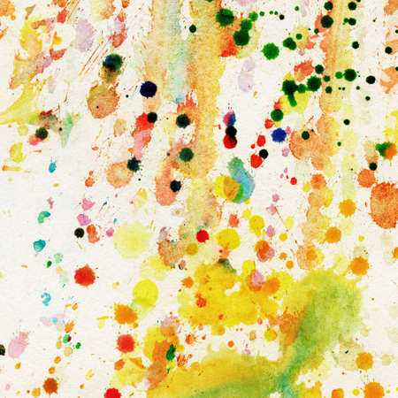 pictured: Abstract watercolor, splashes
