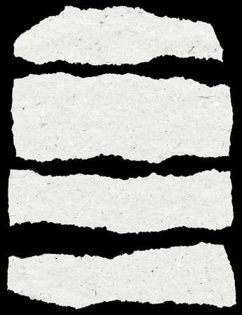 collectie van witte gescheurd papier