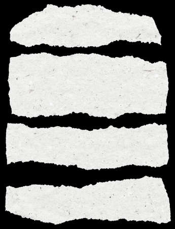 collection of white torn paper Standard-Bild