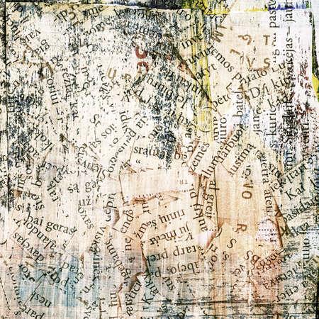 newspaper, magazine collage grunge background