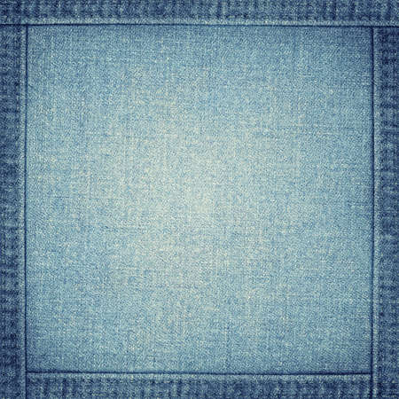 blue jeans texture with frame photo