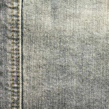 black jeans fabric texture with seam Stock Photo