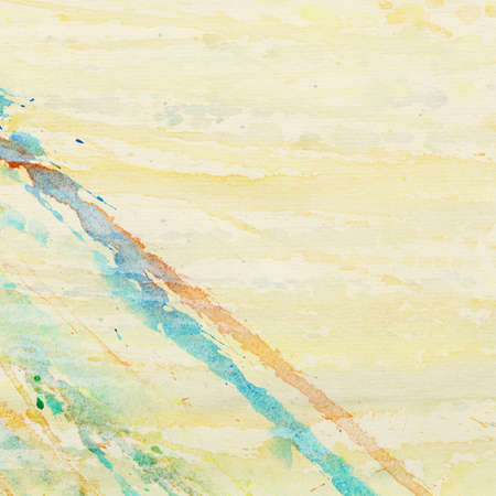 pictured: Abstract watercolor splashes background with space for text