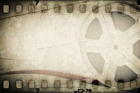 Grunge oude film film reel met film strip Vintage achtergrond Stockfoto