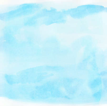 Abstract watercolor sky, clouds