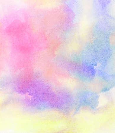 抽象的なカラフルな水彩背景を描いた