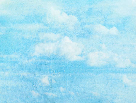 Blue watercolor cloud and sky  Spring, summer background  photo