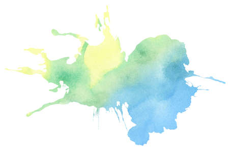 paint drip: Colorful watercolor splatter Stock Photo
