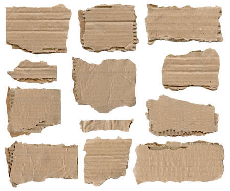 Collection of brown torn paper piece Stock Photo - 29604985