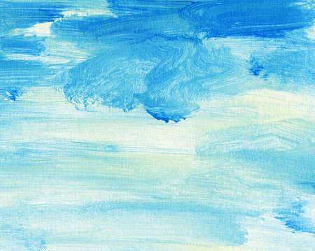 paint strokes: Abstract watercolor,acrylic sky, clouds background Stock Photo