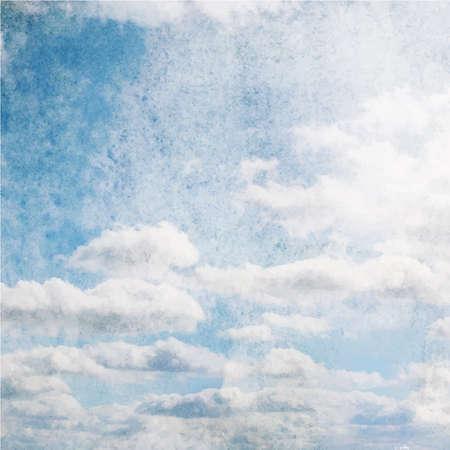 Bien-aimé Aquarelle Nuage Et Le Ciel Bleu Clip Art Libres De Droits  PN66