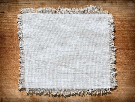Flap burlap background, piece of natural material, can be used as background, with space for text. photo