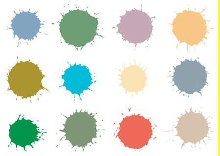 Colorful watercolor design elements  Vector illustration Vector