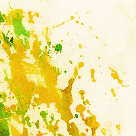 Abstract watercolor, ink splashes